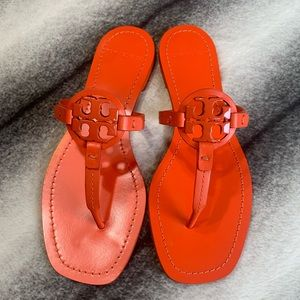 { Tory Burch } Miller Mini Sandals Poppy Red
